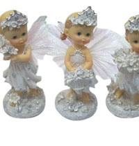 RD-14 white small angel with flower yiwu girlfriend gift