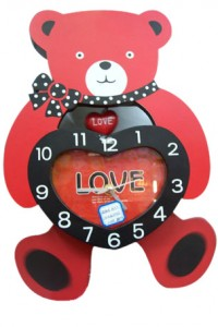CL-24 yiwu plastic bear design clock arts