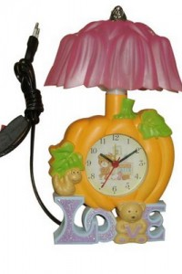 LP-1 yiwu yellow reading lamp with clock