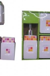 BRS-3 yiwu 4pcs porcelain bathroom set gift