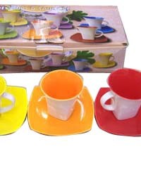 CP-4 yiwu colored coffee cup set gift