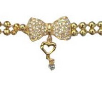 BRC-22 yiwu bracelet with bowknot and heart shaped