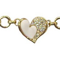 BRC-28 yiwu golden heart design hand chain