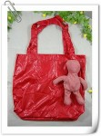 FA-46-2 plaid cotton bear shopping bag (5) photo