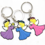 Yiwu  Angel PVC Soft Key Chain Christian Religious Cartoon Soft Keychain Cape Verde Market Agent