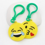 Yiwu Creative Pvc Silicone Rubber Expression Keychain Cartoon Stereo Keychain Accessories Manufacturers Wholesale